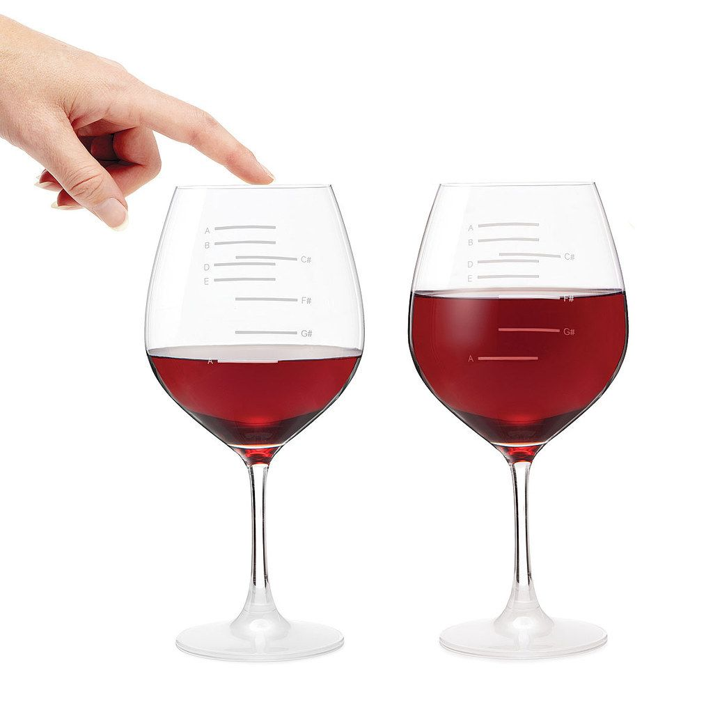 Musical Wine Glasses Gifts For Wine Lovers Red Wine Glasses Major Scale