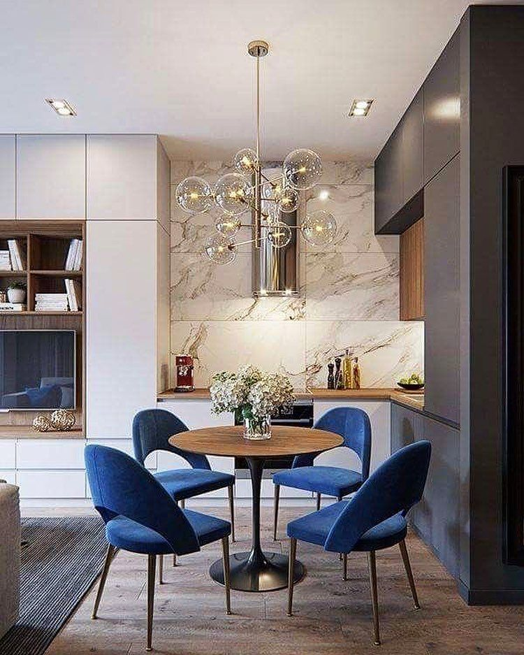 20 Dining Room And Kitchen Interior Combo Ideas 18307: Our Favourite Combination Of A Wood Veneer Top With A