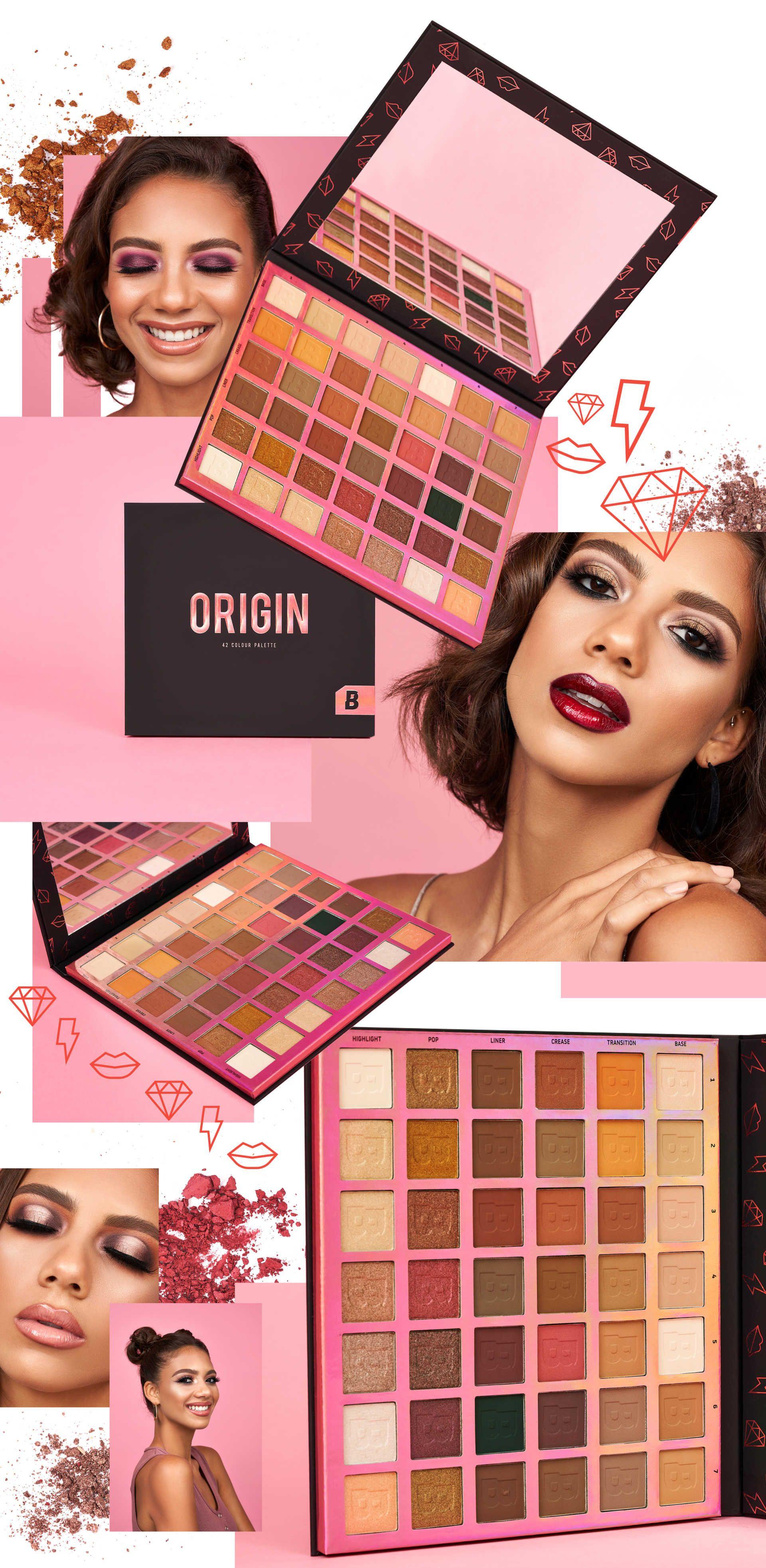 Origin Palette golden and purple eye looks Beauty bay
