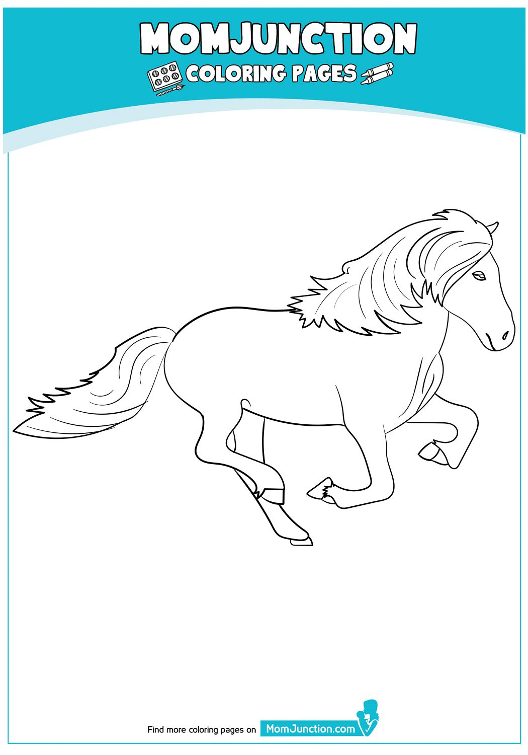 Icelandic Horse Horse Coloring Pages Horse Coloring Coloring Pages