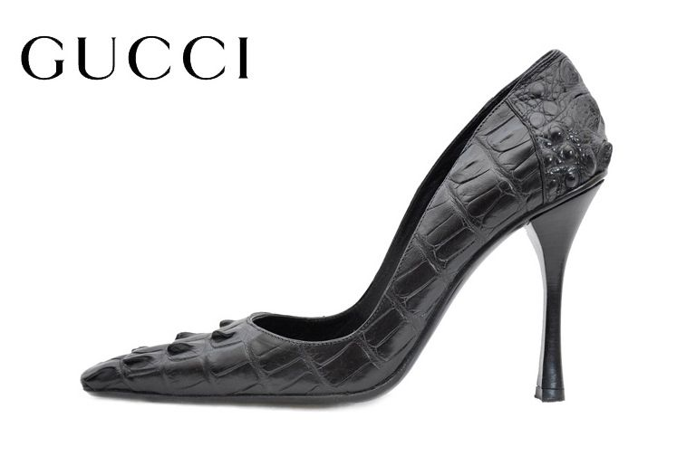 Tom Ford Gucci | TOM FORD for GUCCI BLACK ALLIGATOR SHOES 8.5 at 1stdibs