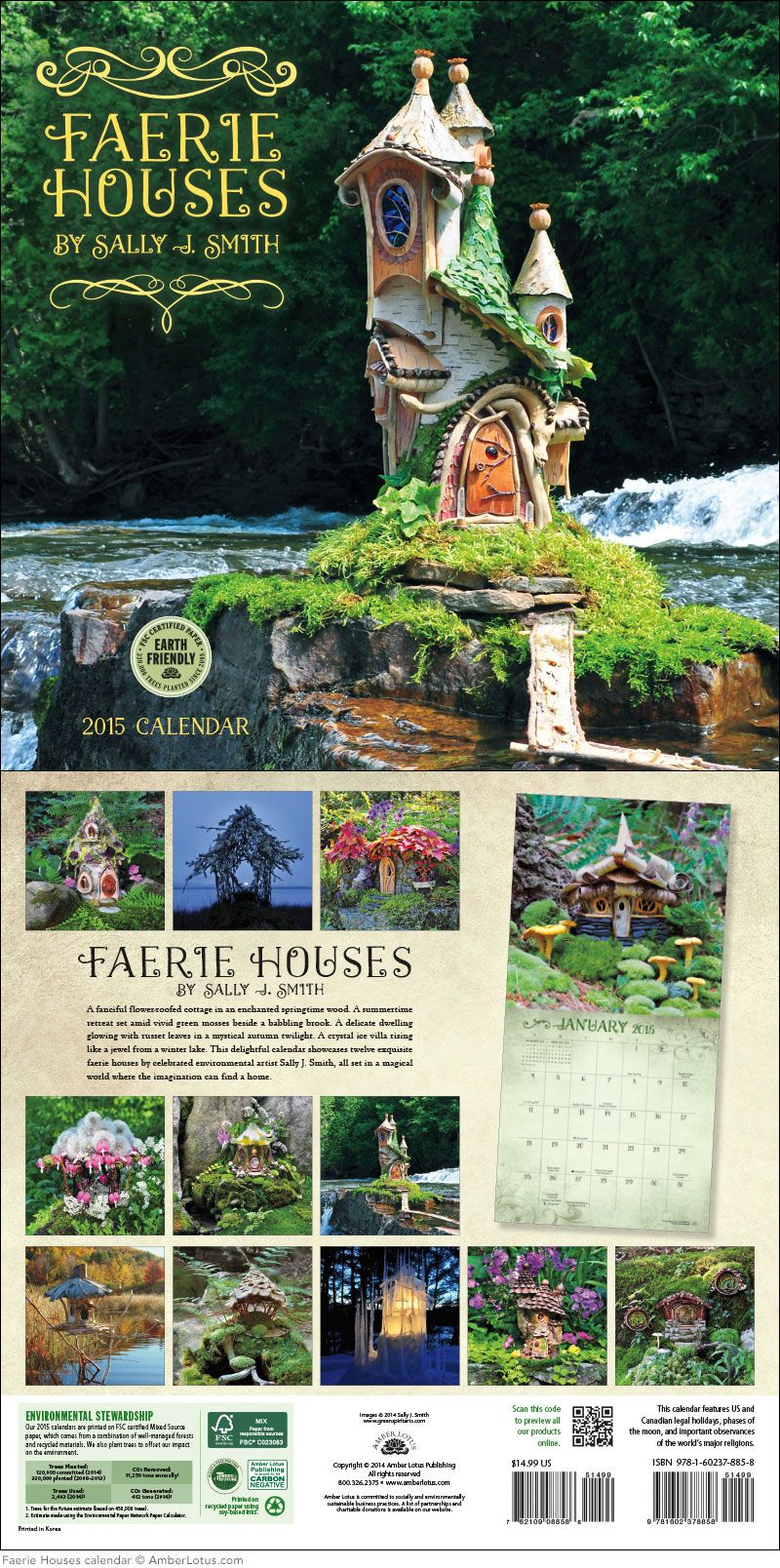 Fairy Houses 2019 Wall Calendar | Fairy, Gardens and Organic gardening