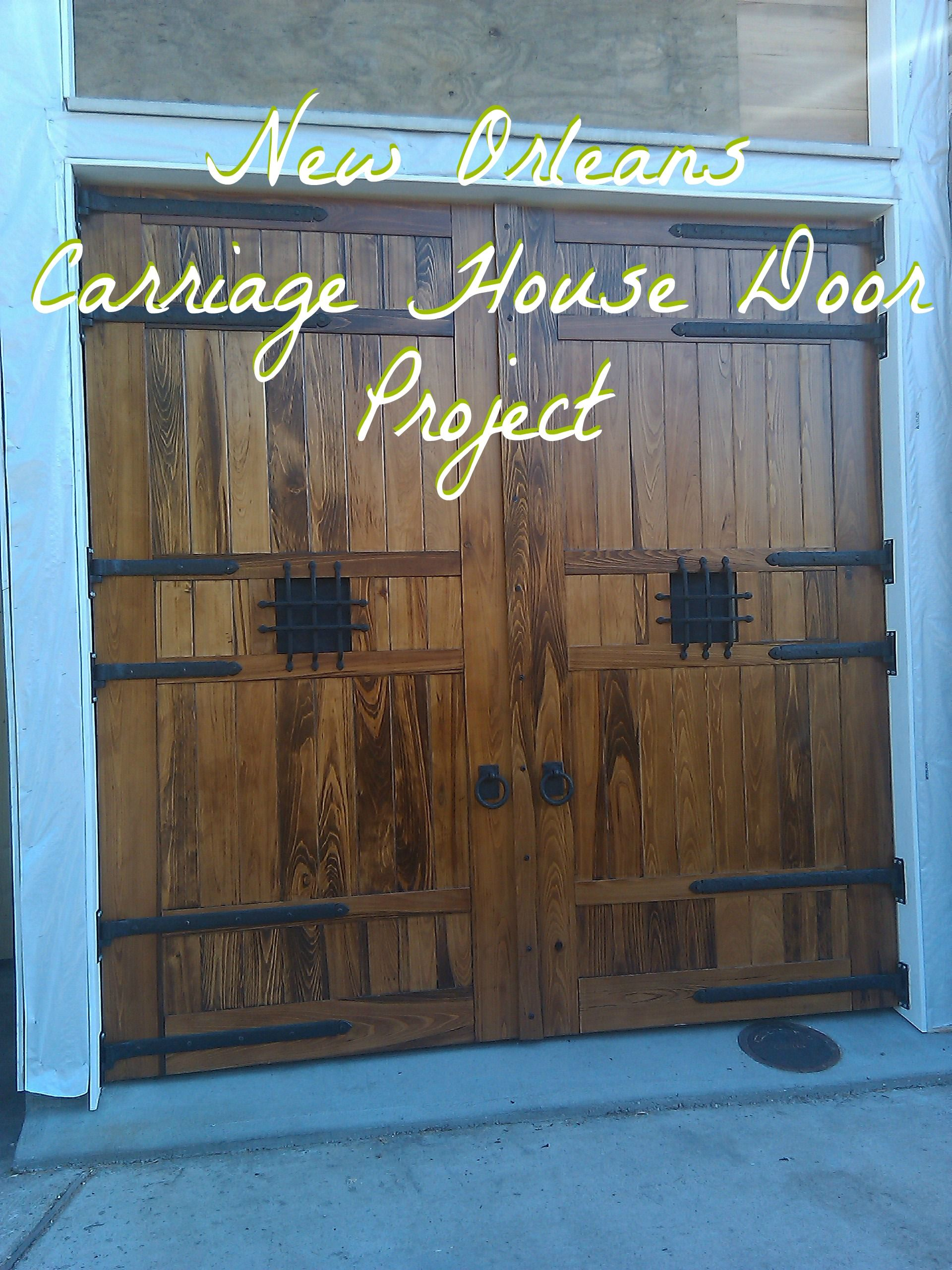 Custom Carriage House Doors With Heavy Duty Solid Bronze Carriage Door Hardware And Stra Carriage House Doors Garage Door Decor Garage Door Decorative Hardware
