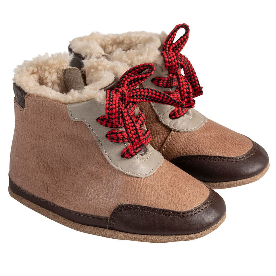 Robeez Beige Wyatt Soft Soles Boots in