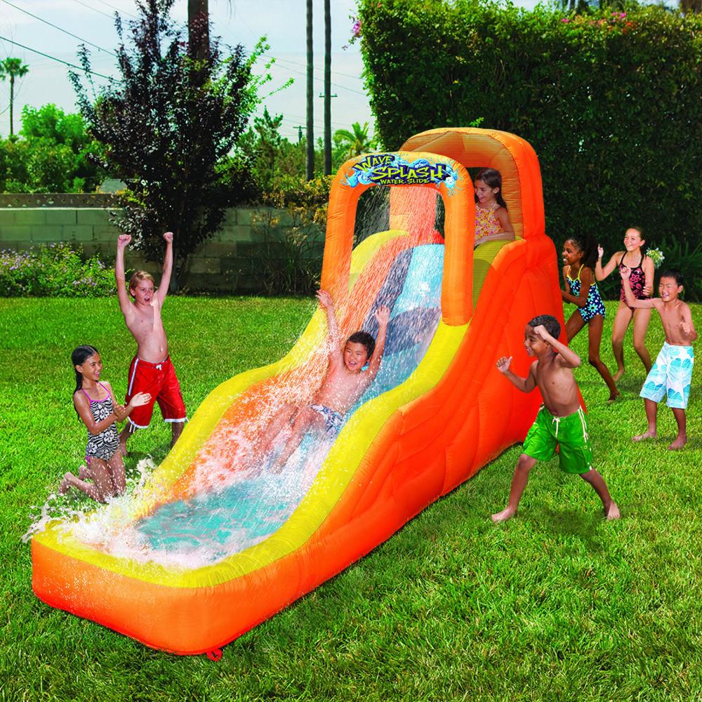 Inflatable Water Slides Wave Splash Backyard Outdoor