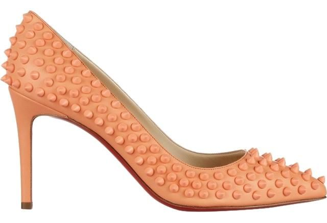 5cae64a54548 Christian Louboutin Pigalle 85 Leather Pastel-orange Pumps 21% off retail