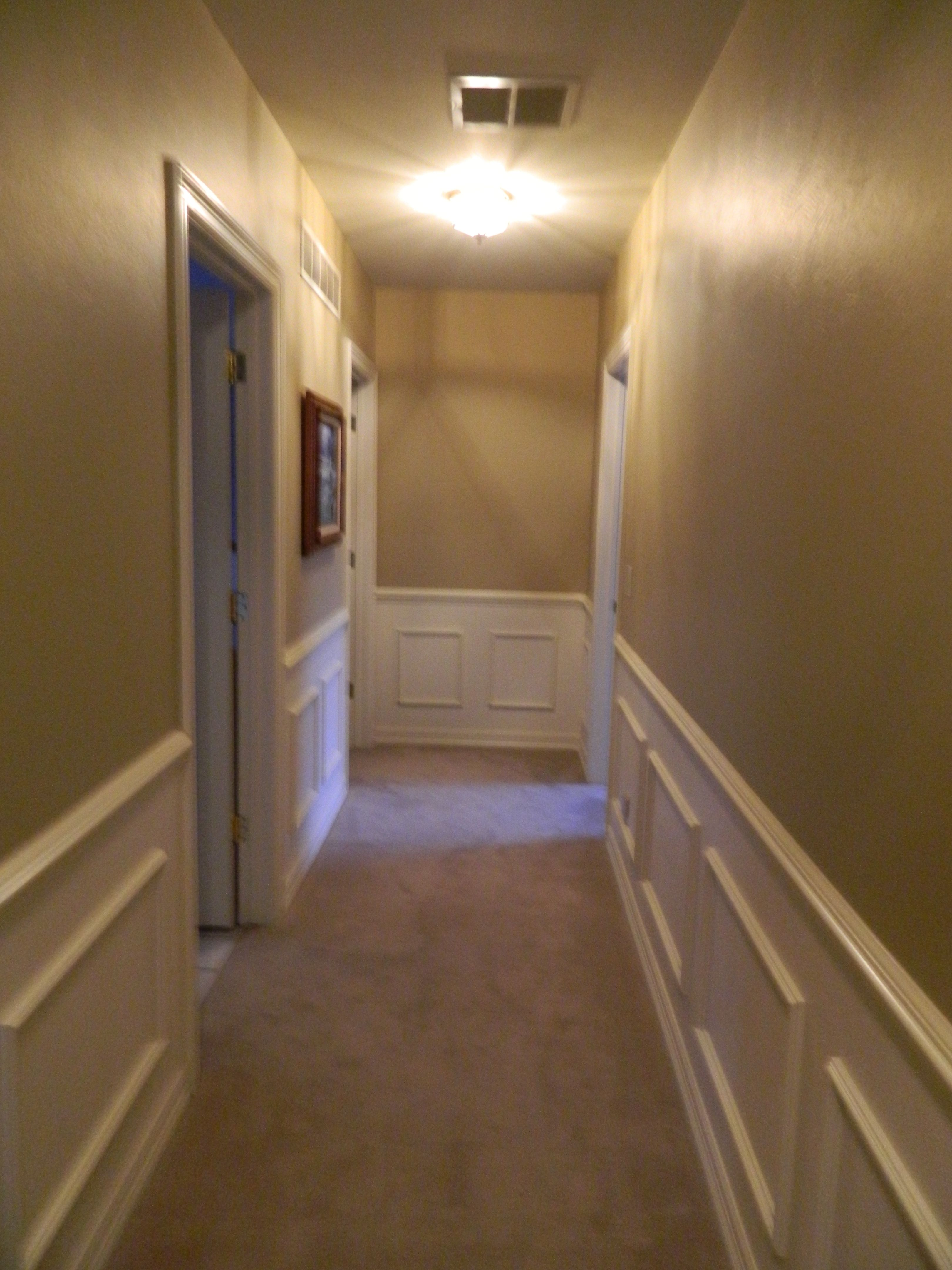 Master bedroom hallway  Upstairs hallway  wainscoting  Ideas for the my home  Pinterest