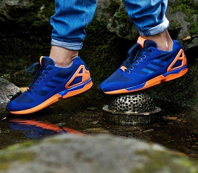 Adidas Originals Zx Flux Weave Dark Blue Orange