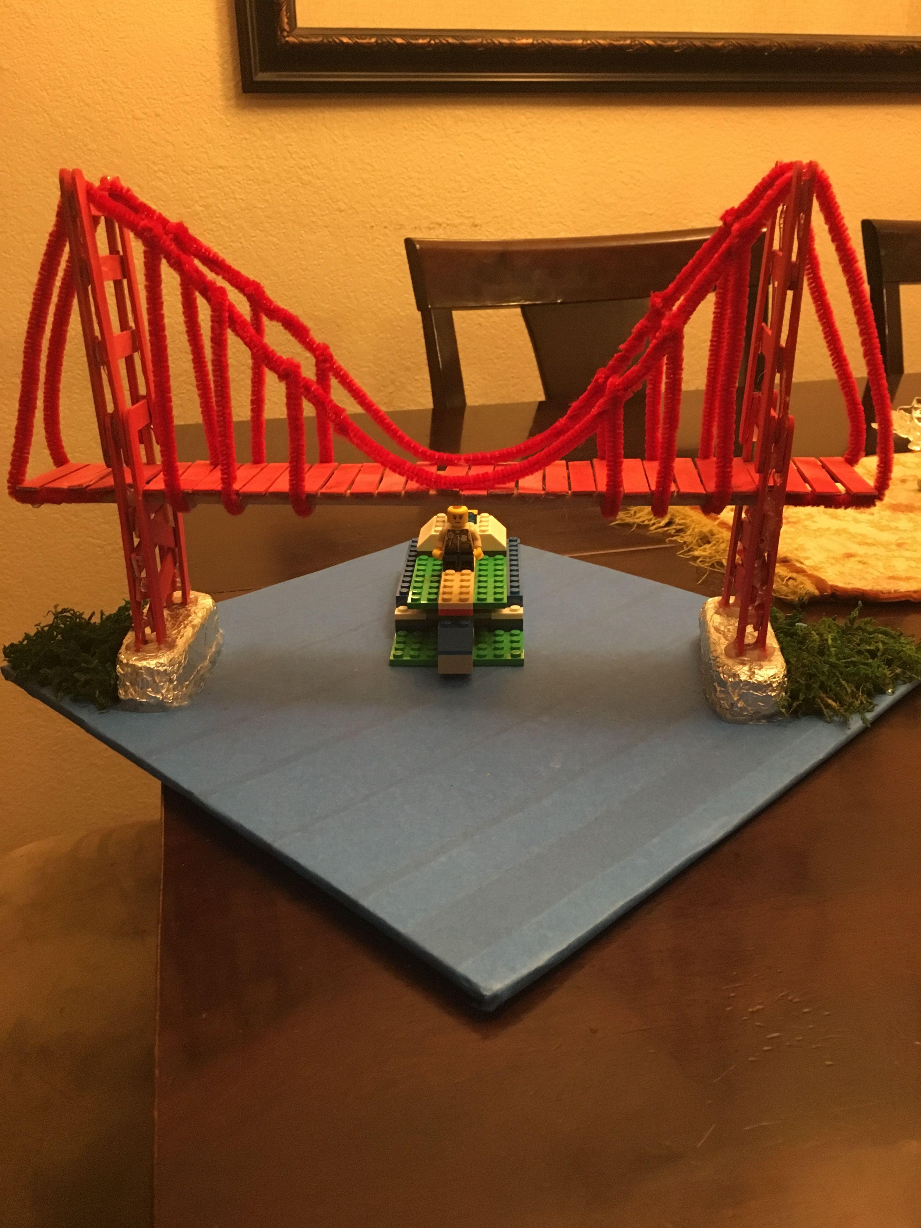 Golden Gate Bridge School Project Crafts Bridge Model