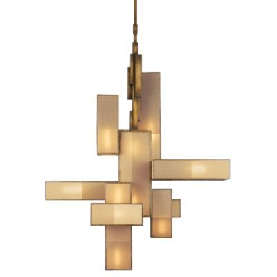 Geometric Chandelier...would make a great wall hanging ...