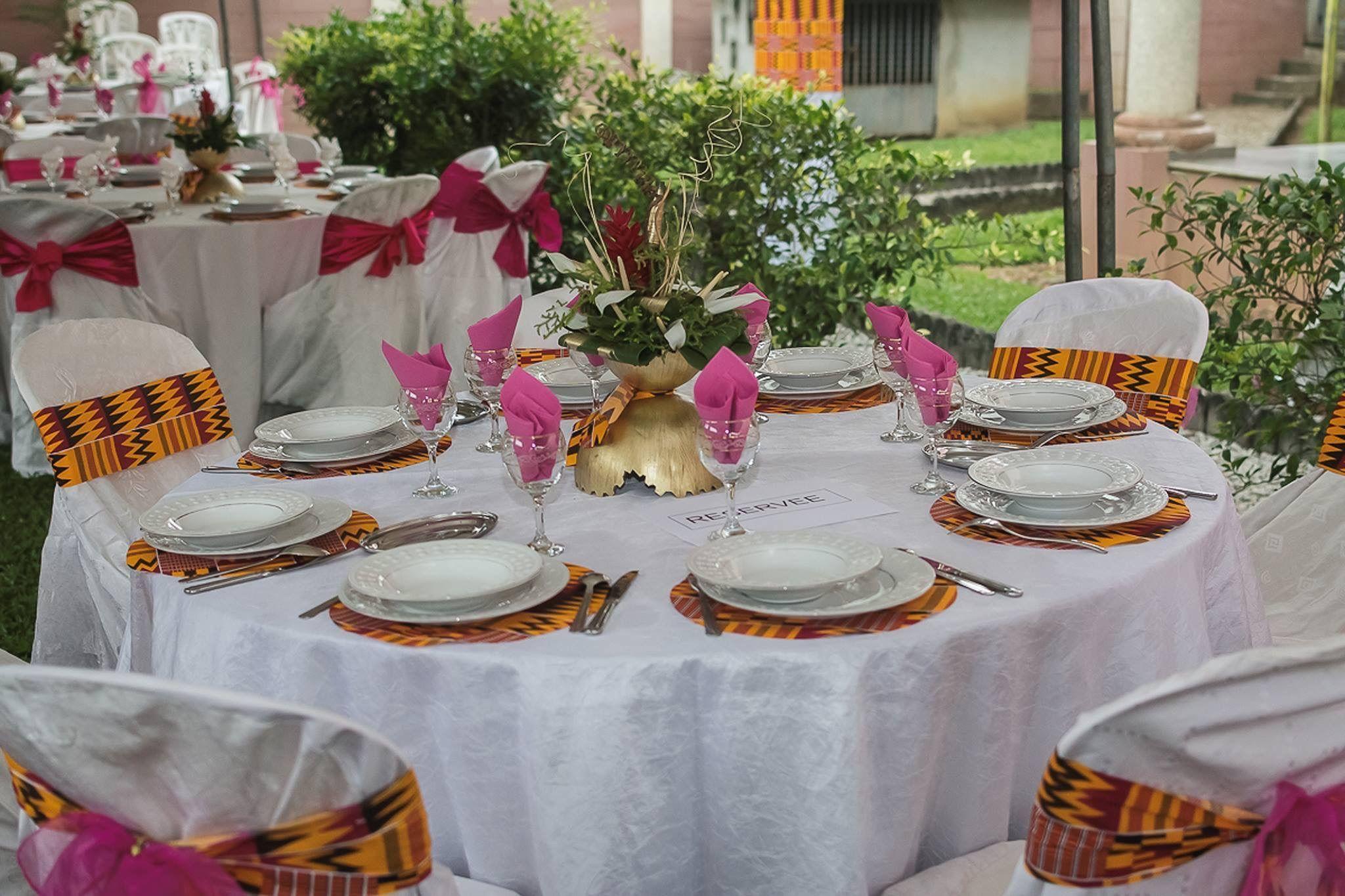 Table de r ception en rci 1 pinterest deko - Decoration mariage traditionnel ...