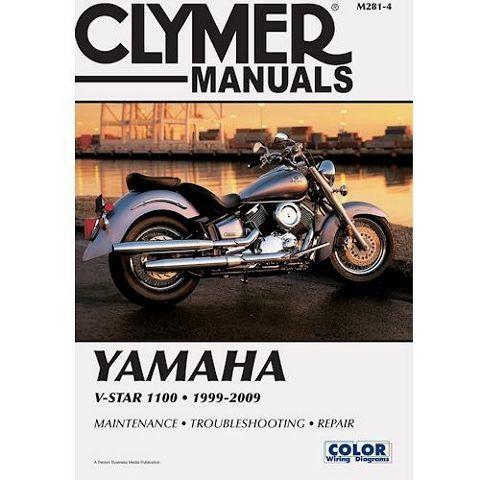 Clymer Manual Yamaha V Star 1100 1999 2009 Yamaha V Star Clymer Motorcycle Repair