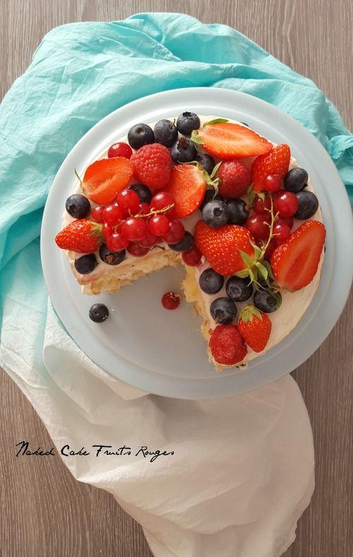 Naked Cake aux fruits rouges - Léa