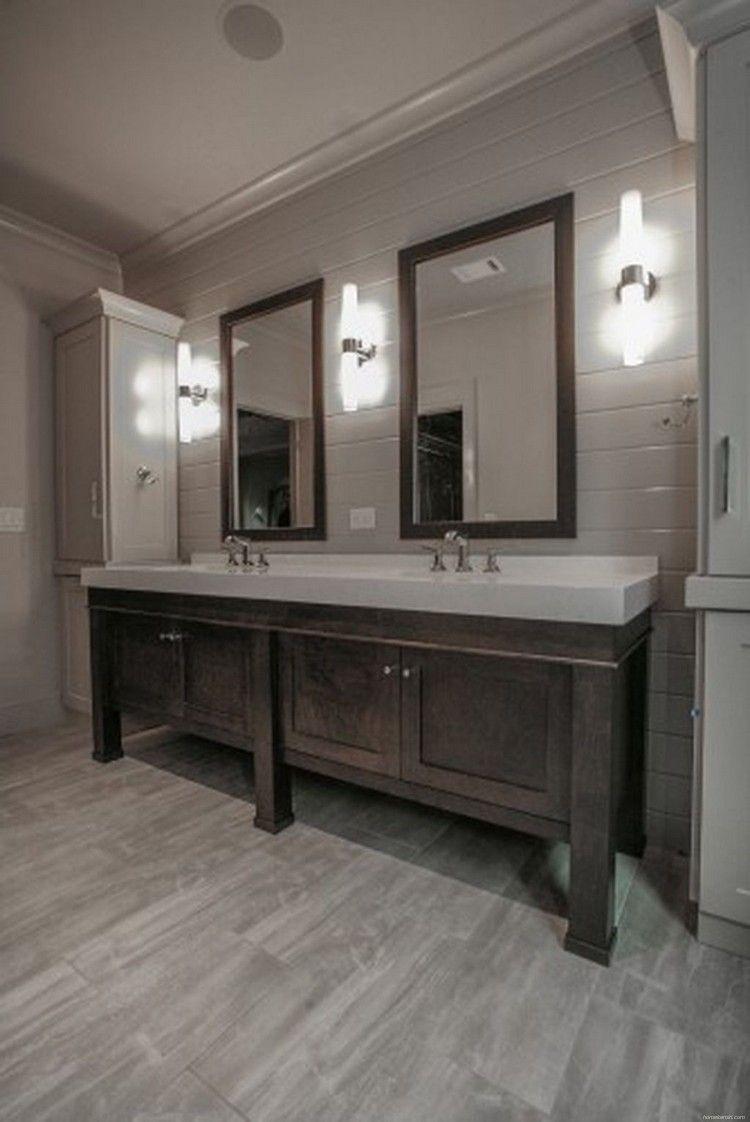 50 Contemporary Dark Wood Bathroom Vanity Ideas Grey Bathroom Tiles Wood Floor Bathroom Dark Wood Bathroom