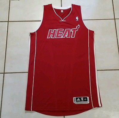 Rare NWOT ADIDAS Miami Heat  (RED) Authentic Blank NBA Jersey Men's XL Tall
