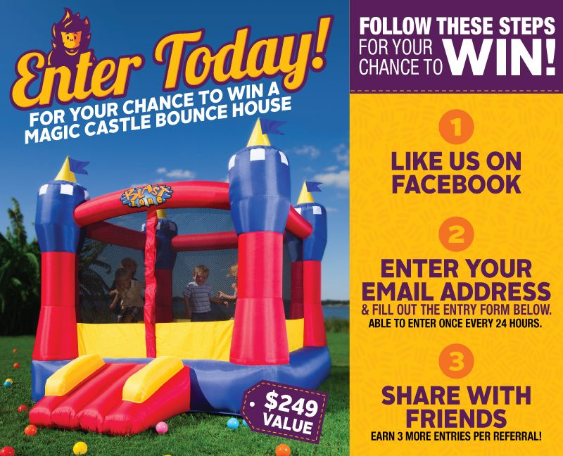 Stupendous Win A Magic Castle Bounce House From Blast Zone Giveaways Download Free Architecture Designs Scobabritishbridgeorg