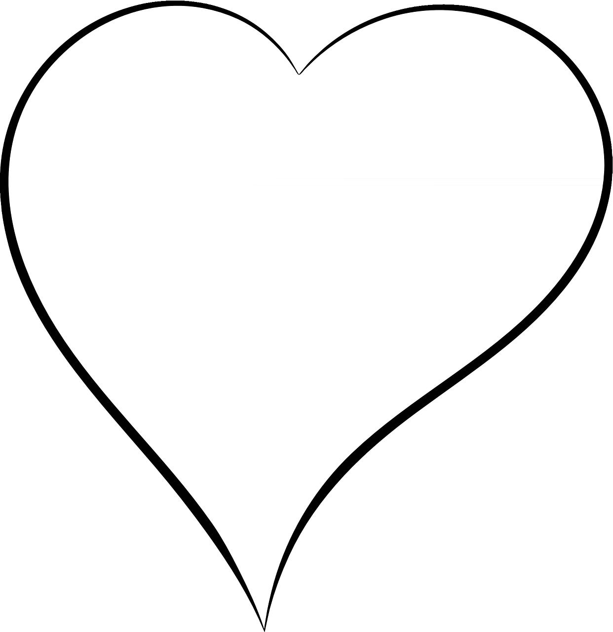 Herz Valentine Liebe Kostenlose Vektorgrafik Auf Pixabay Malvorlagen Herz Vorlage Herz Malvorlage