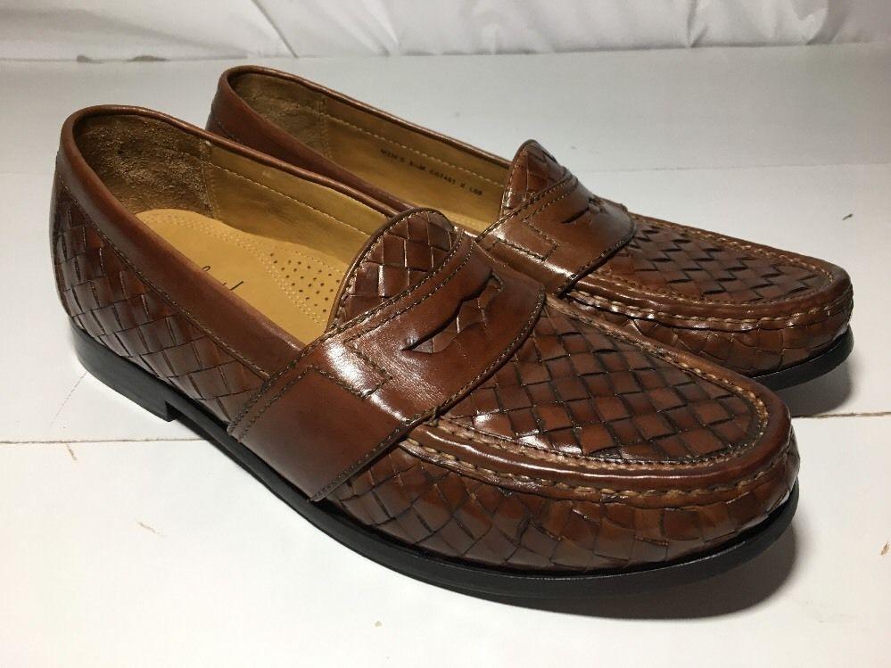 6905042bdd Cole Haan Nike Air C07451 Brown Leather Lattice Slip Ons Men's Size 9.5 M |  eBay
