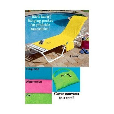 Terry Cloth Lounge Chair Cover Pool Beach Deck Pink