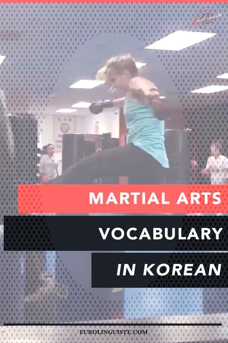 Martial Arts Vocabulary in Korean - Eurolinguiste