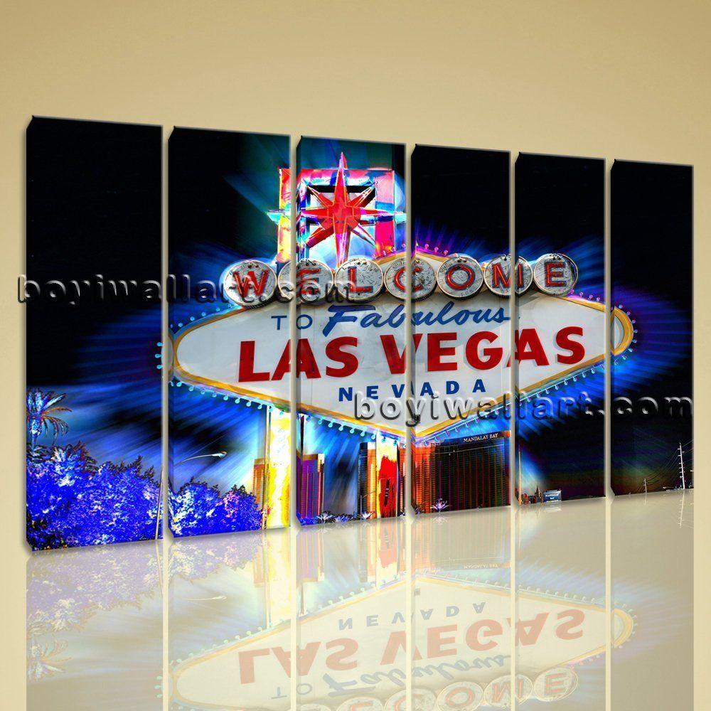 Living Under Vegas Large Las Vegas Neon Sign Landscape Photography Canvas Print