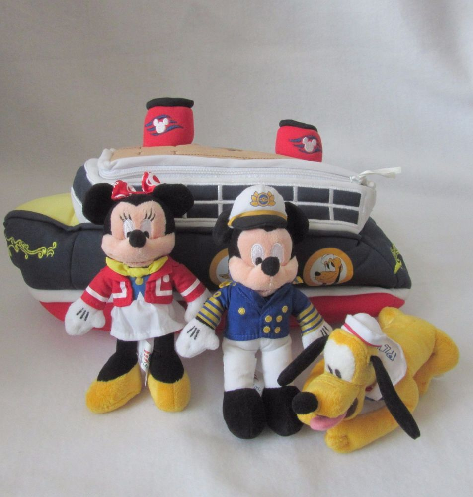 Disney Cruise Line Ship Mickey Minnie Pluto Plush Soft Toy Stuffed - Toy disney cruise ship