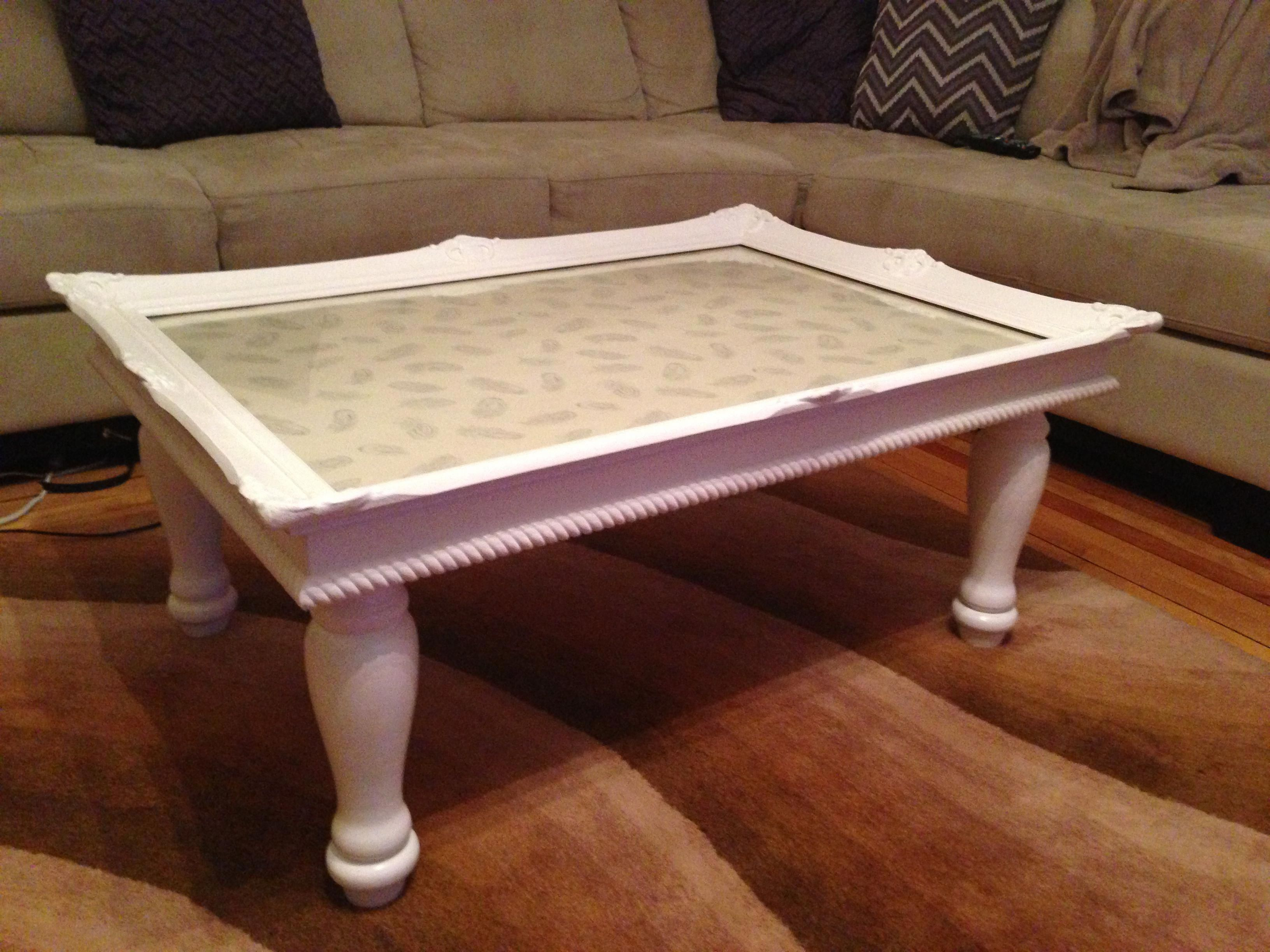 Coffee Table Made From An Old Picture Frame Vintage