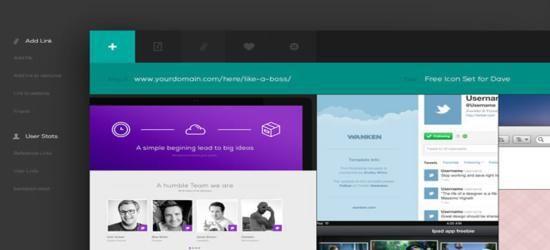 Web App Flat UI (PSD) by Blaz Robar