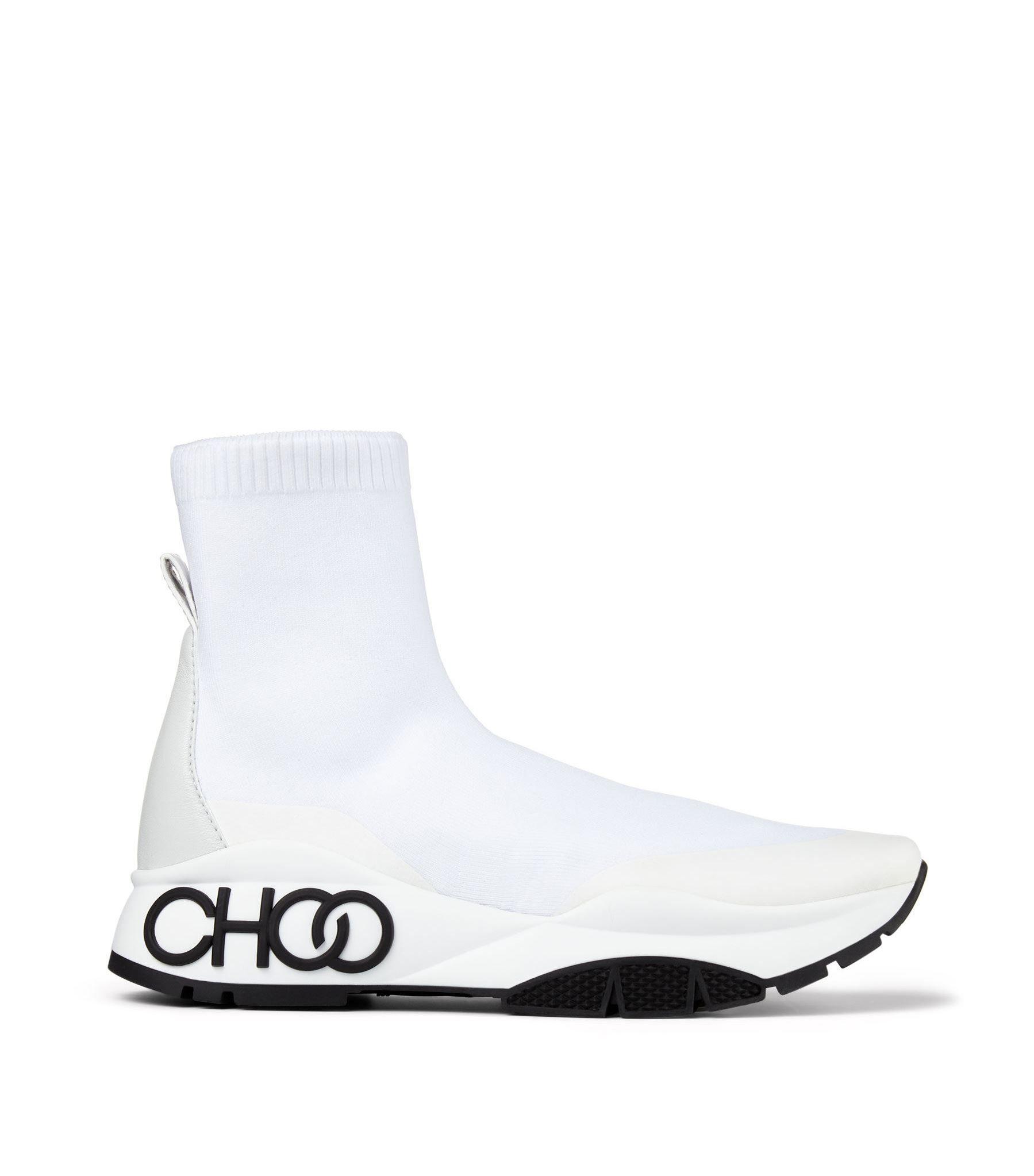 Jimmy Choo Raine Sock/f White Stretch