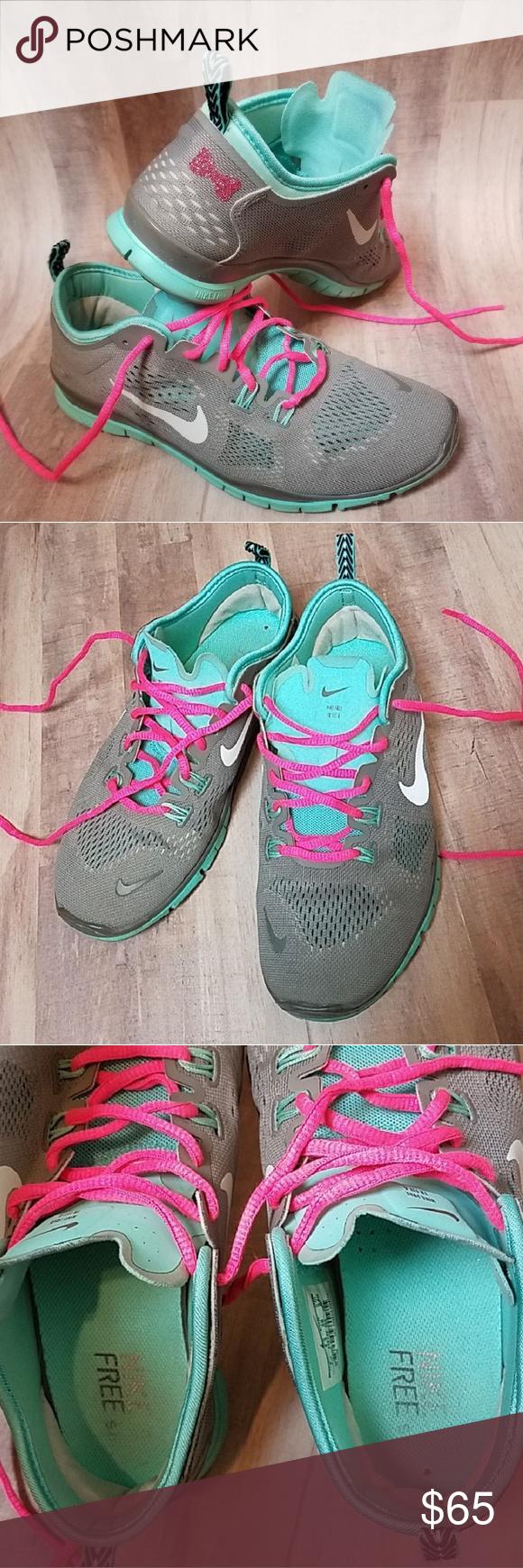 newest 0519d c70a7 Custom Bow Nike Free TR FIT 4 pink teak gray Nike Free TR Fit 4
