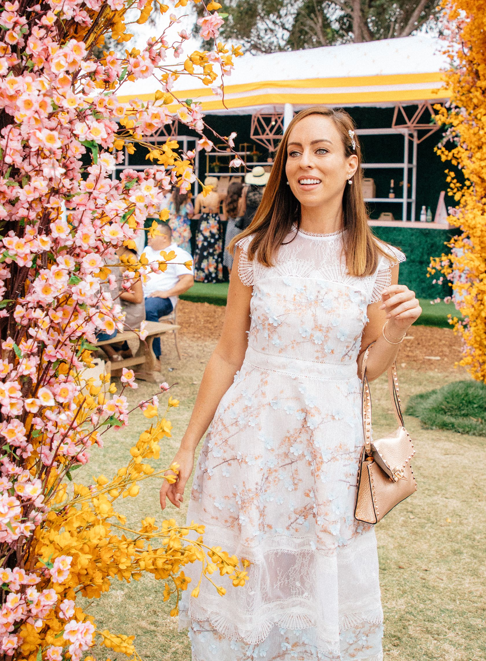 8d7dc21e366 Sydne Style shows what to wear to veuve polo match in la  dresses   sydnesummer