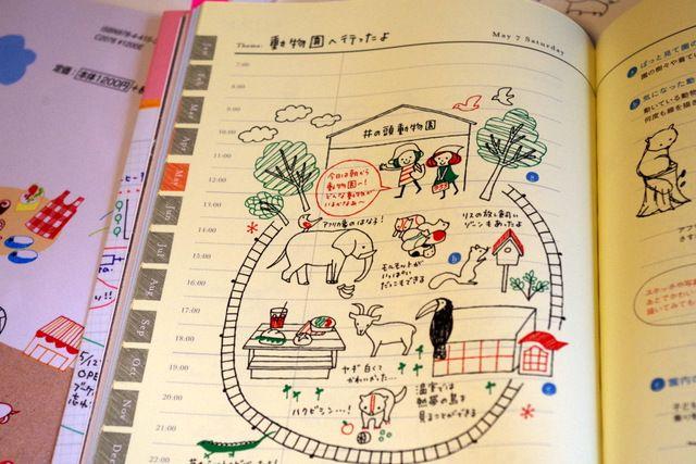 4色ボールペンでかんたんかわいい手帳イラストより ボールペン