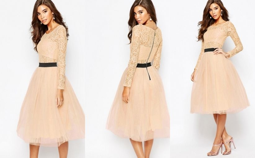 fae6d2e8aa Rare sukienka midi tiul koronka sukienka pinterest jpg 822x510 Midi tiul