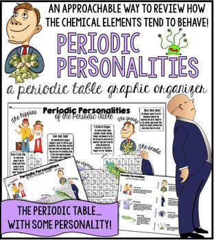 periodic personalities a periodic table graphic organizer a fun way to teach - Periodic Table Of Elements Review