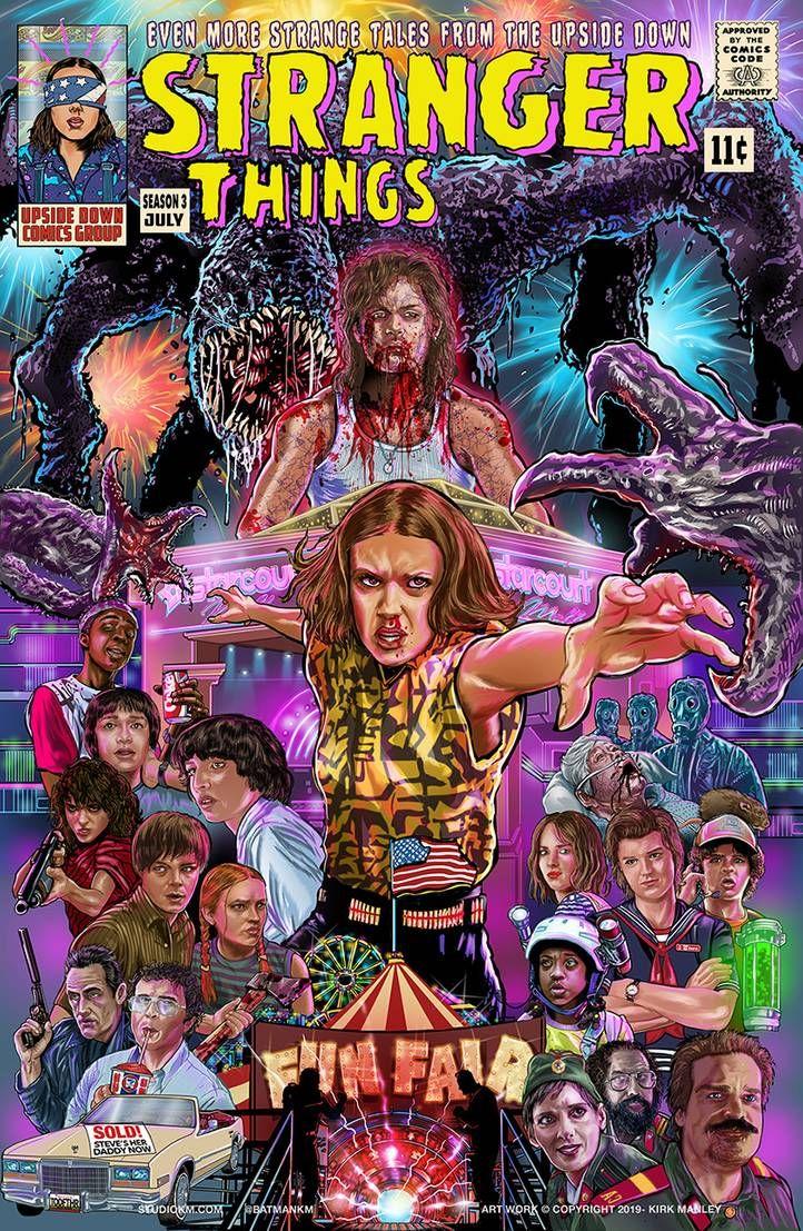 Stranger Things Comic Book by batmankm on Deviantart, Kirk Manley, Season 3, fanart, fan art, Eleven