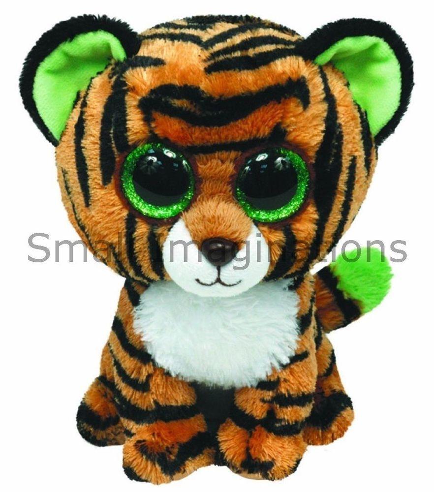 9 inch Stripes the Tiger - TY Beanie Boos Buddy Boo Plush Soft Toy Teddy