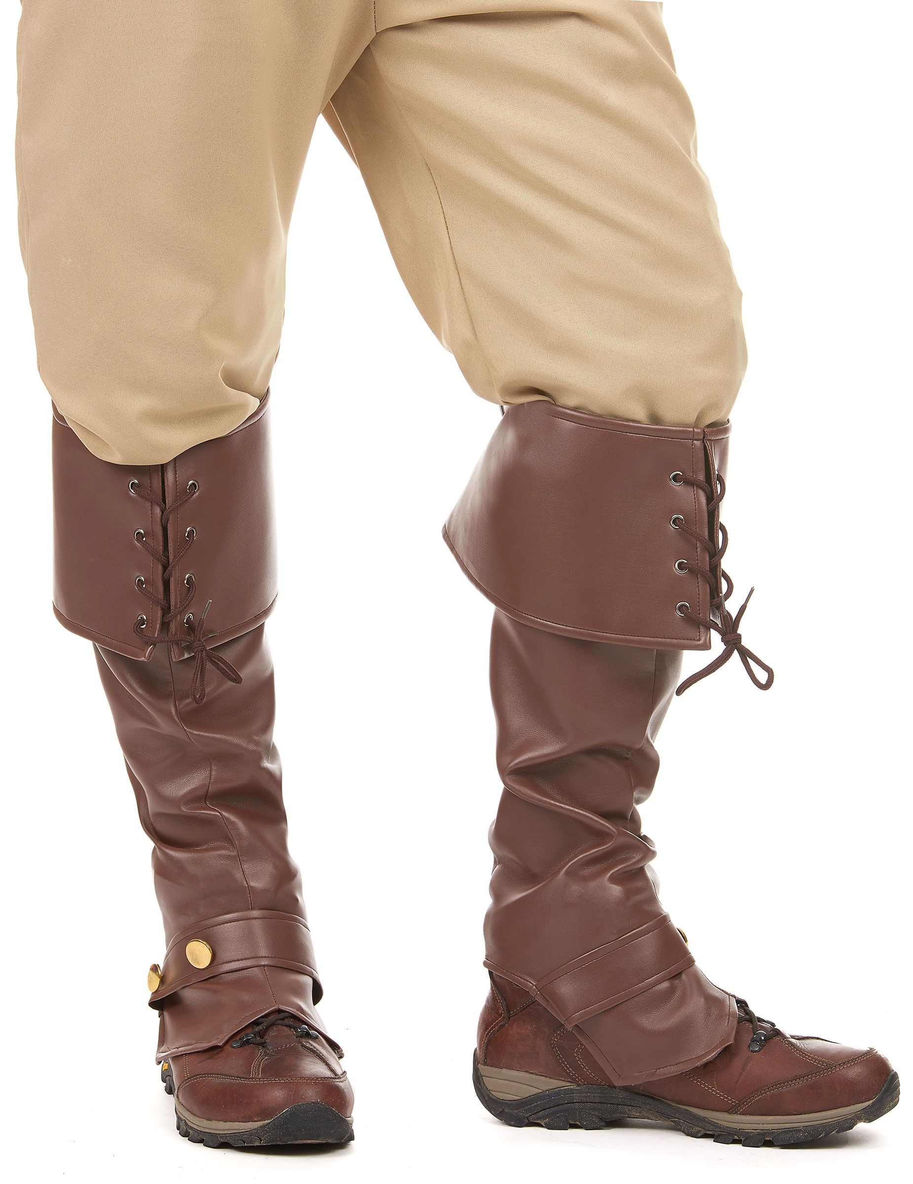 Brown Imitation Leather Boot Covers | Leather boots, Boots