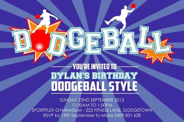 dodgeball party invitation boy dodgeball birthday party invitations