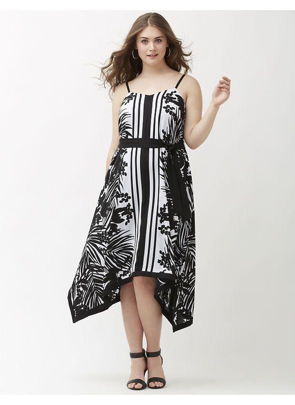 Plus Size Printed shark bite maxi dress Lane Bryant Women\'s Size ...