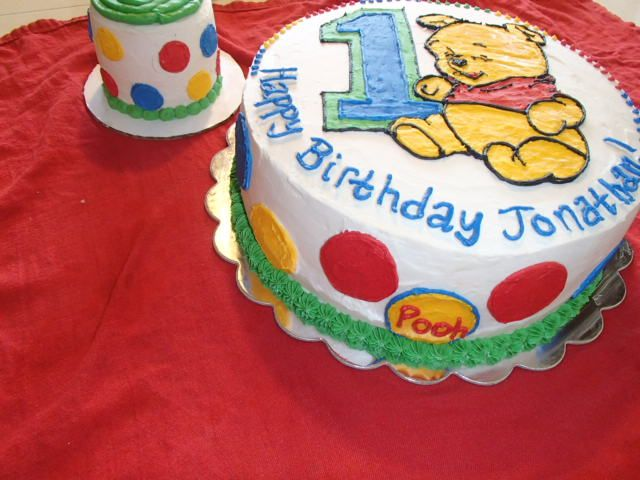 Winnie The Pooh Cake Frosted Hand Piped With Buttercream