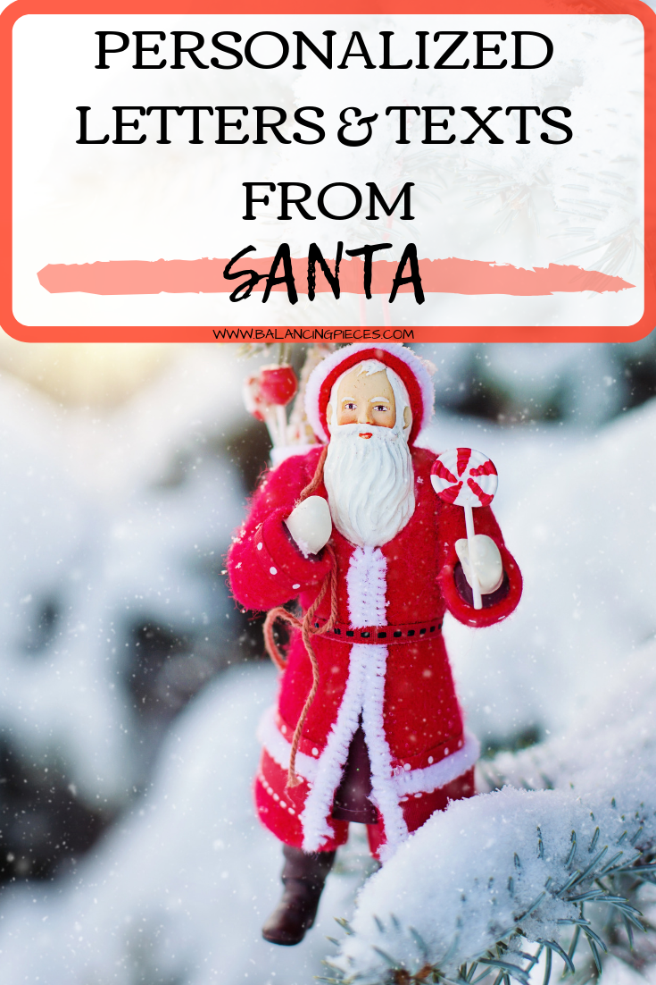 Personalized Letters and Texts From Santa Message from