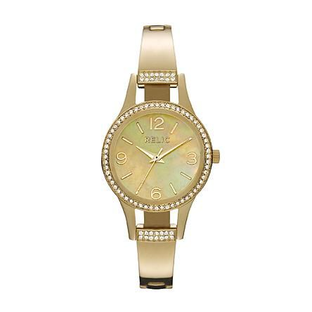Relic Ladies Gold Tone Band with Gold Tone Dial Watch