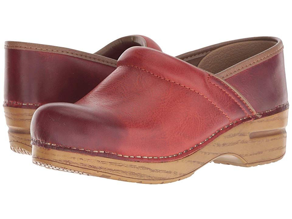 f13144f7d1c1e6 Dansko Professional (Coral Waxy Burnished) Women s Clog Shoes. Your heel  should lift up