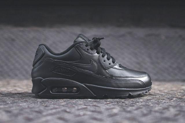 Nike Air Max 90 Leather (Triple Black) Sneaker Freaker