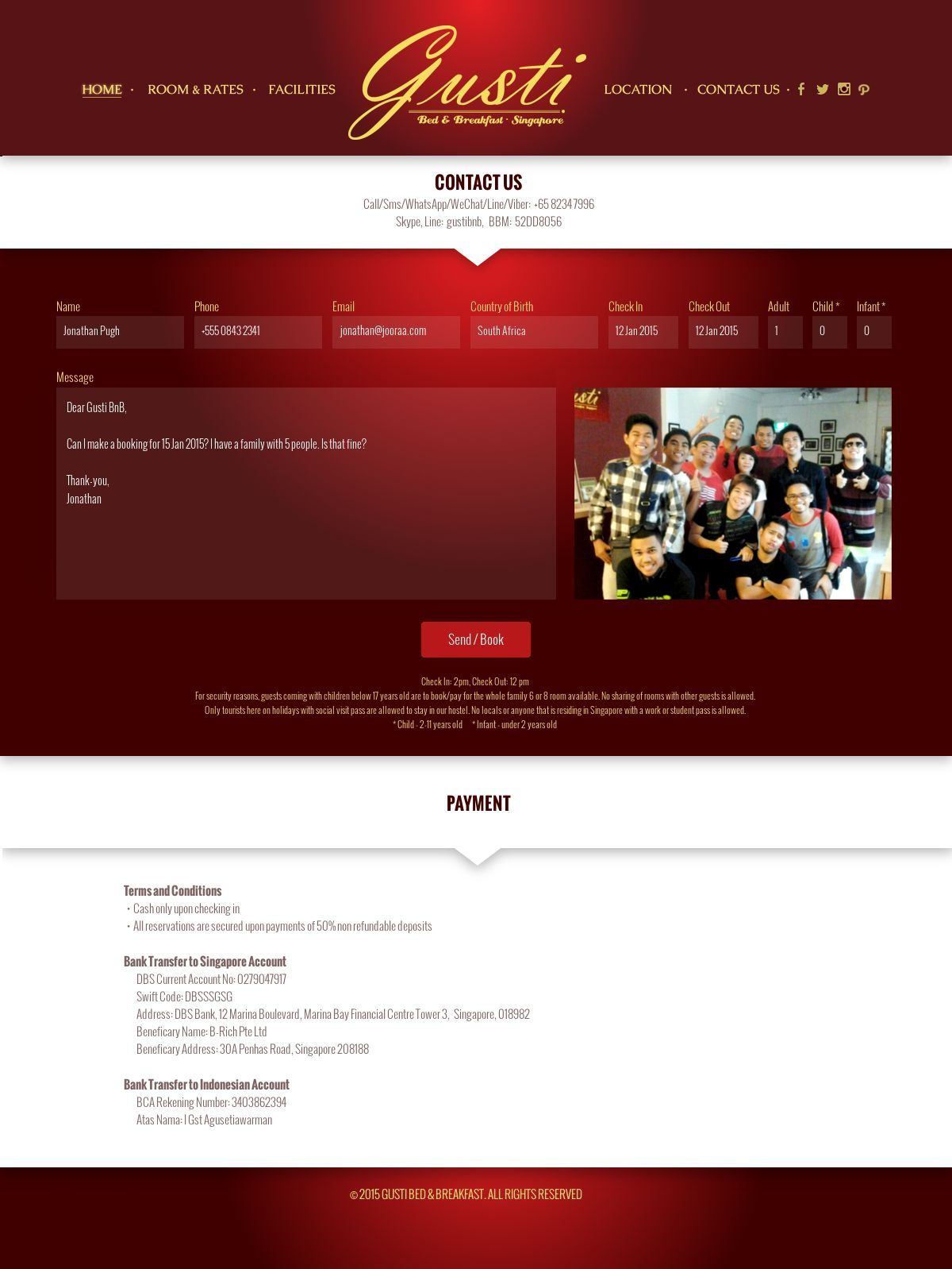 Gusti Bnb Contact Us Website Designed And Developed By Jooraa Website Design Design Print Design