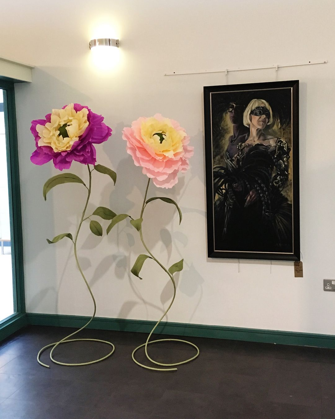 Giant Paper Flowers On Show At Secret Severn Art Trail Paper