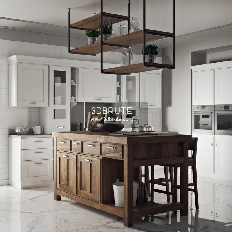 213. Kitchen 3dmodel - Download -3d Models Free -3dbrute # ...