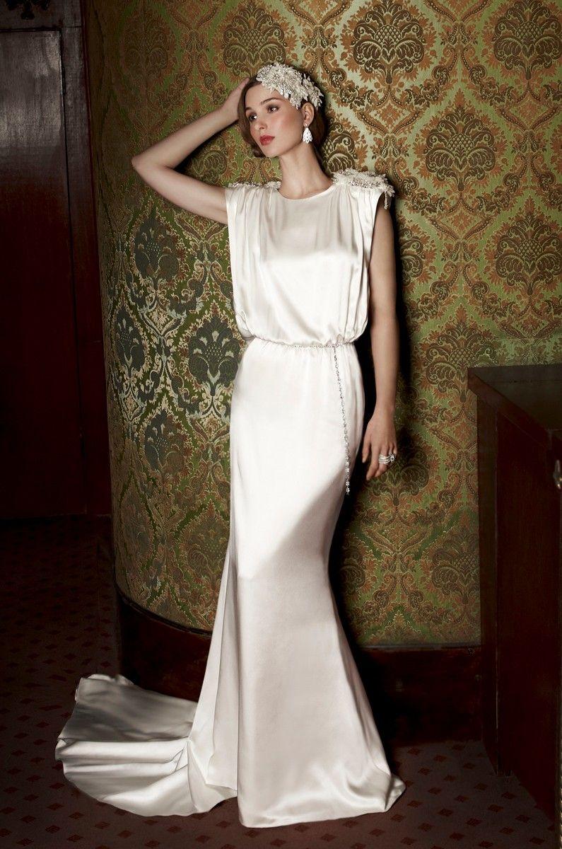 12 stunning slinky wedding dresses in 2020 Wedding