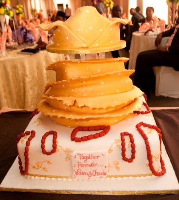 Yoruba Traditional Wedding Cake In Nigeria See Http Www Weddingfeferity