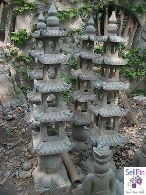 $995.00: Oriental Garden Statue Pagoda Lamp, Lantern, Muliti Tier 5 Feet  Tall